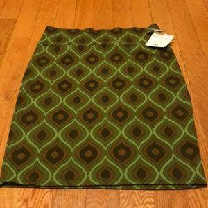 Lularoe Cassie skirt green brown lime design 2XL